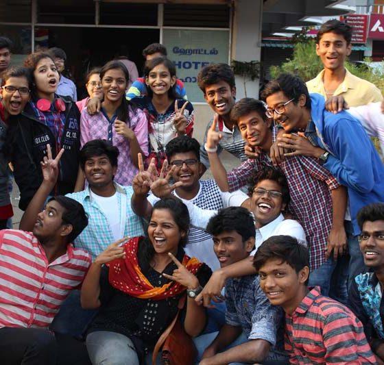 Karpagam Architecture - Student at trip celebration