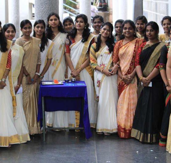 Karpagam Architecture - Student at Onam Celebration