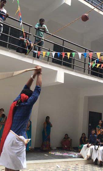 Karpagam Architecture - Student at Pongal Celebration